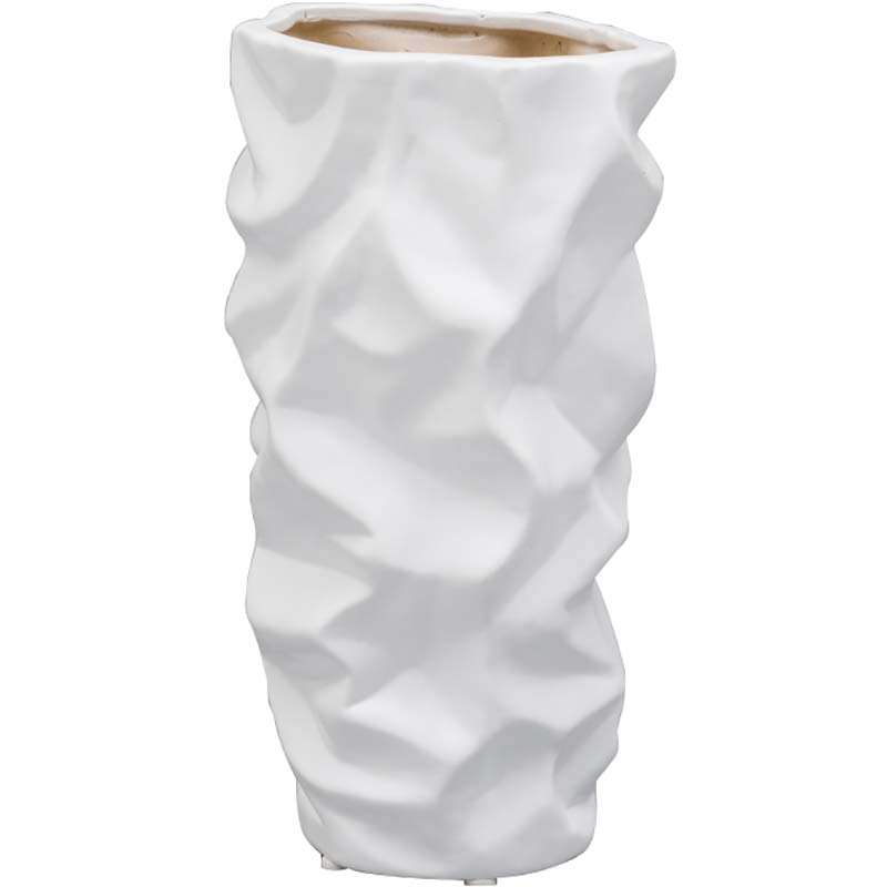 Vaso Ornamental Waves 25,4cm - Prestige - Branco