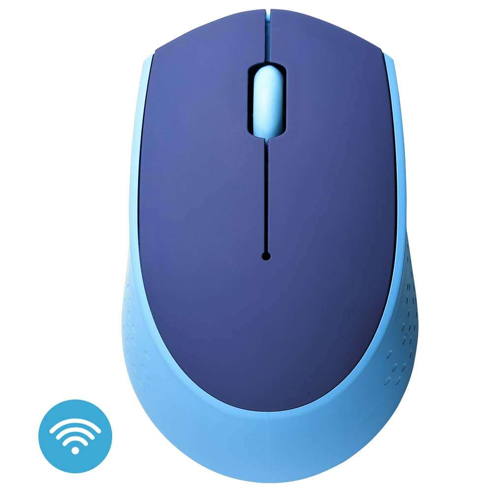 Mouse Usb Óptico Led 1200 Dpis Azul Mo259 Multilaser