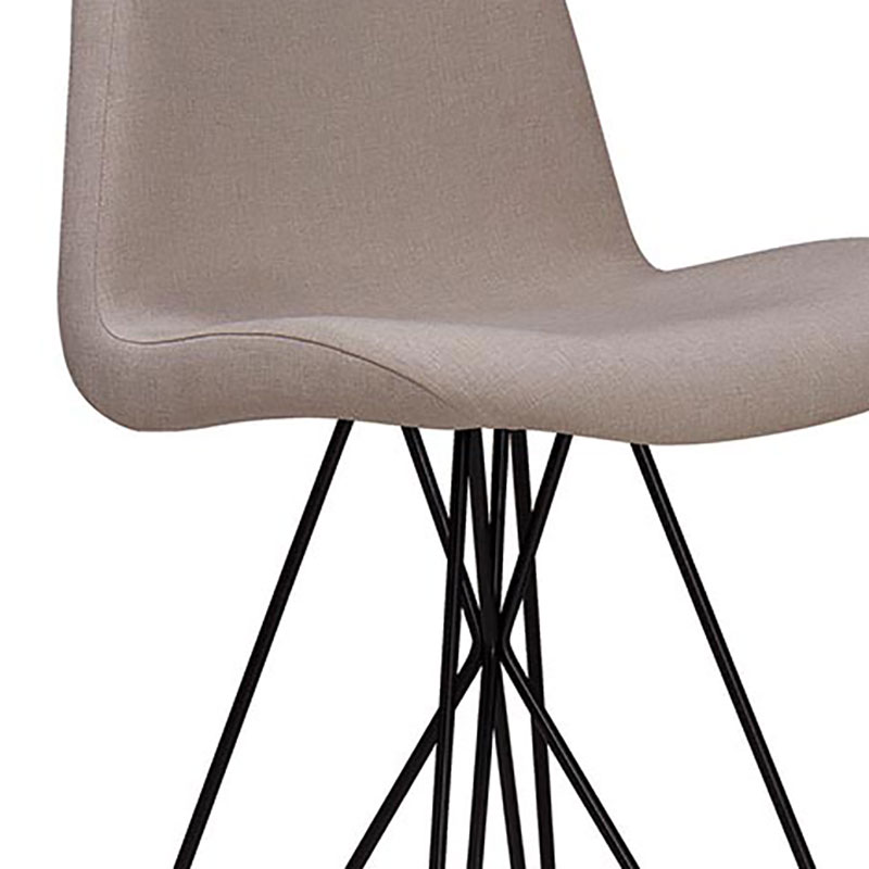 Banqueta Alta Eames Butterfly T1073-Daf Mobiliário - Bege